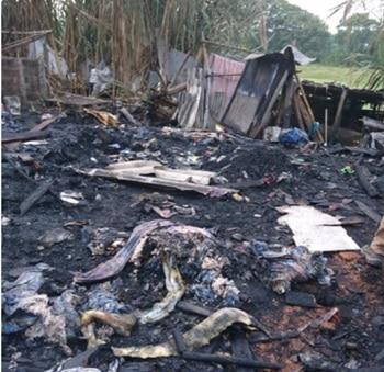 Cinco familias resultaron afectadas tras un incendio en el Oriente de Cali