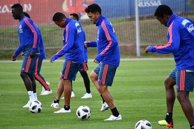 Primer entreno de la selección Colombia en Rusia extrañó a James Rodríguez
