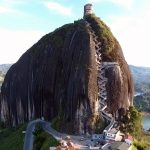 El famoso Peñón de Guatapé