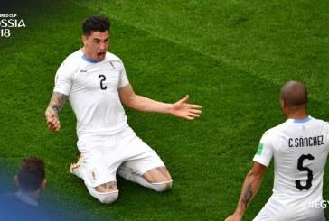 Jiménez le dio la victoria a Uruguay sobre Egipto