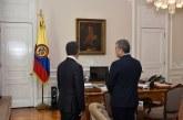 Primer encuentro entre los presidentes Juan Manuel Santos e el presidente electo Iván Duque