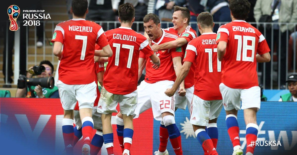 Histórico debut de una Copa del Mundo: Rusia 5-0 Arabia Saudita