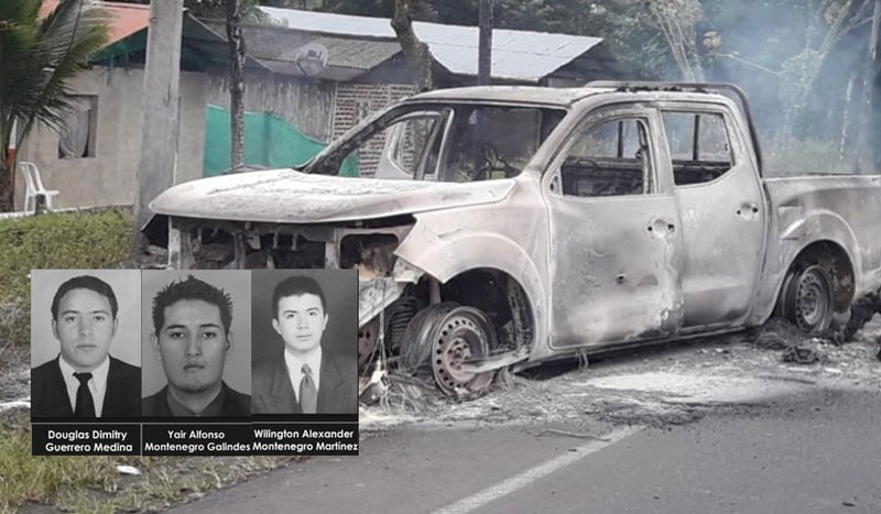 En emboscada asesinan tres agentes del CTI, disidentes de Farc serían los responsables