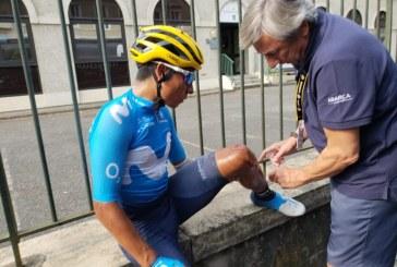Nairo Quintana sufrió caída en etapa 18 del Tour de Francia, pero llegó en el lote