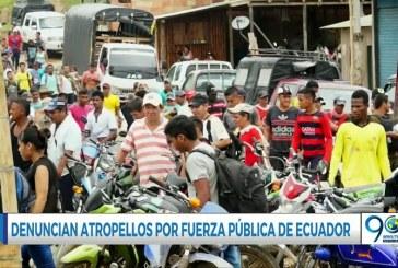 Habitantes de Tumaco denuncian malos tratos de la fuerza pública de Ecuador