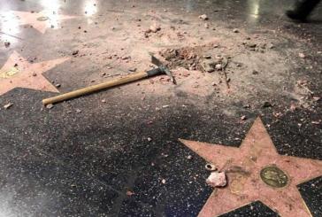 Destruyen nuevamente la estrella de Trump en el Paseo de la Fama de Hollywood