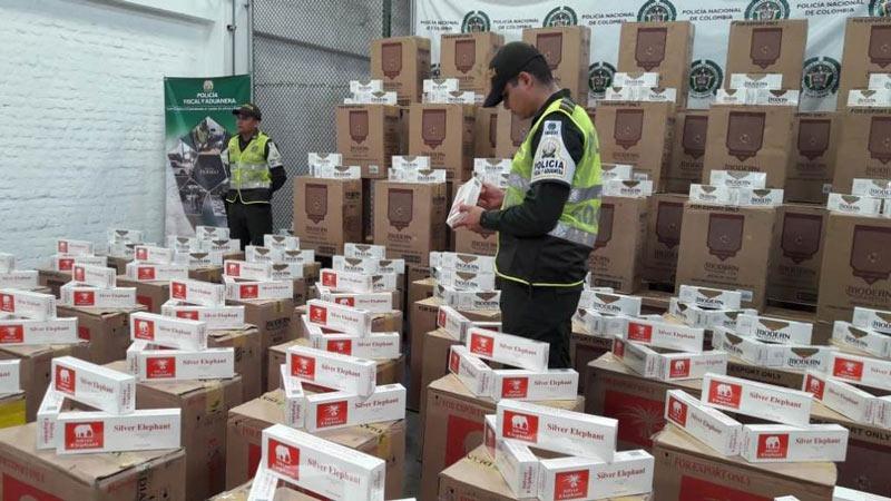 Incautan cargamento con 115 mil cajetillas de cigarrillos de contrabando en Cauca
