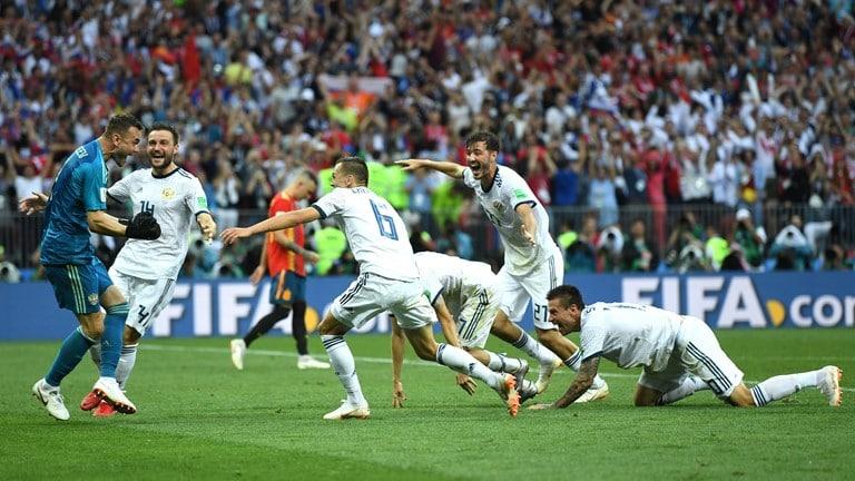 Desde el punto penal, el anfitrión del Mundial eliminó a otra favorita: España