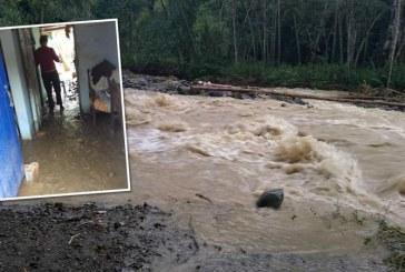 Treinta personas afectadas luego de creciente de una quebrada en Riofrío, Valle