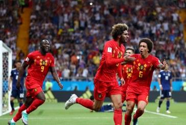Bélgica sufrió para vencer a Japón y avanzar a cuartos de final