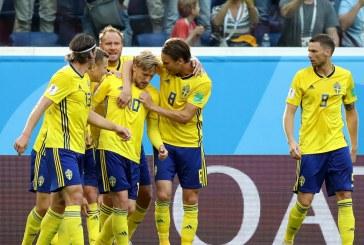 Suecia venció a Suiza por la mínima y se instaló en cuartos de final