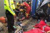 Al menos 12 personas muertas al volcar un bus con hinchas de fútbol en Ecuador