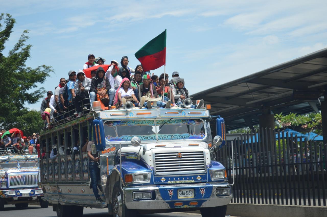 Galería de imágenes: Así fue la marcha indígena que se llevó a cabo en Cali