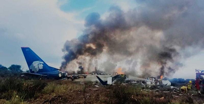 Avión accidentado de Aeroméxico llevaba 97 pasajeros y 4 tripulantes