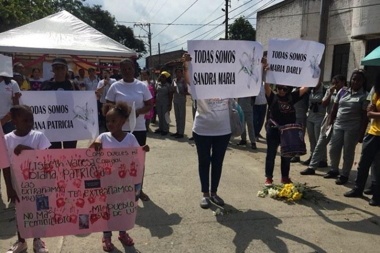 Candelaria, Valle, se moviliza por el feminicidio de Diana Patricia Barona