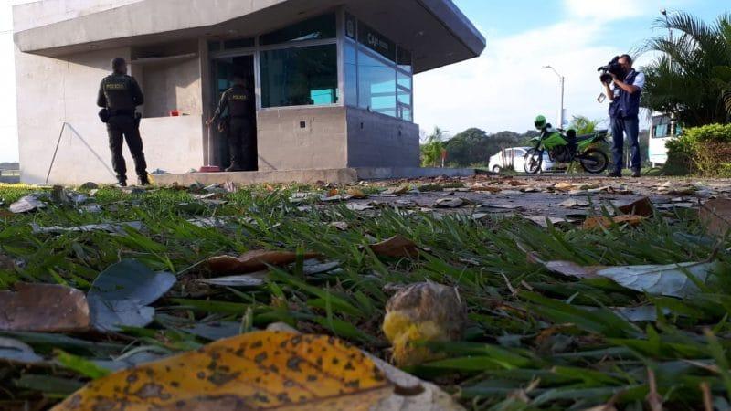 Atentan contra CAI de Policía en barrio El Rodeo, Jamundí, un uniformado afectado