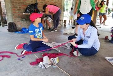 Niños del Valle aprovecharon agosto para construir cometas con material reciclable