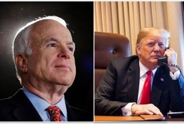 Trump rechazó emitir un comunicado por la muerte de Senador McCain, dice diario
