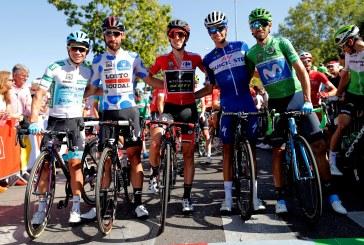 Miguel Ángel López, tercero en el podio de la Vuelta a España