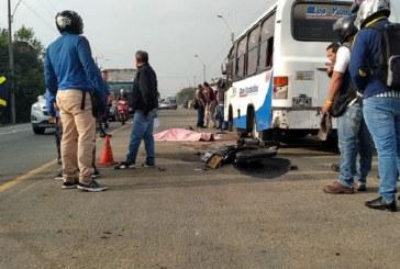 Motociclista perdió la vida tras ser atropellado por un bus en la vía Cali-Yumbo