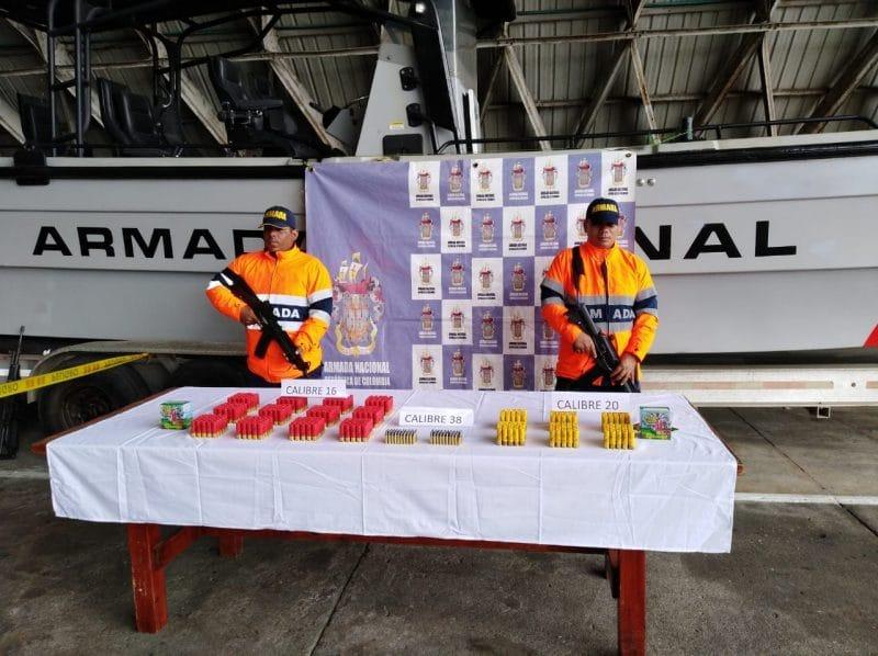 Autoridades incautaron 550 unidades de municiones en aguas del Pacífico