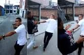 Buscan a hombre que intimidó y apuñaló a otro en vía pública, caso quedó en video
