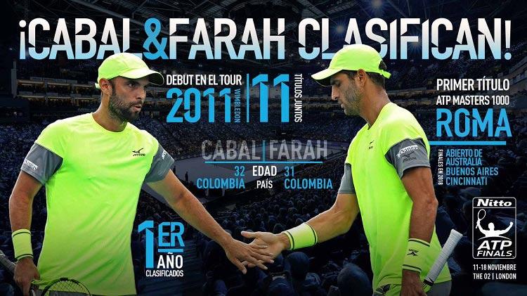 Los colombianos Cabal y Farah jugarán el Torneo de Maestros