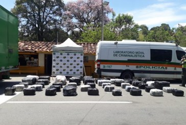Cárcel para hombre que transportaba 537 kilos de marihuana de Cali a Bogotá