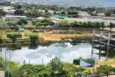 Construcción abandonada de centro comercial se convirtió en piscina urbana en Cali