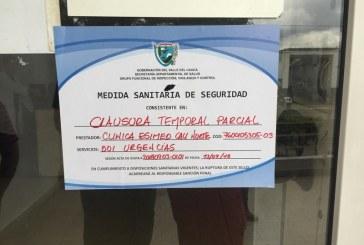 Autoridades cierran temporalmente clínica Esimed por irregularidades del servicio