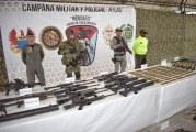 Incautan armamento de alias Guacho en operativos en Nariño