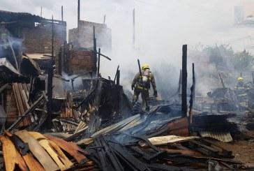 Una mujer afectada dejó incendio en vivienda en el Jarillón del río Cauca