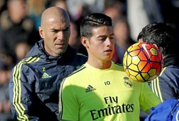Zinedine Zidane no se guardó nada al referirse a James Rodríguez