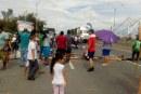 Habitantes del Jarillón de Comfenalco protestan por falta de servicio de energía
