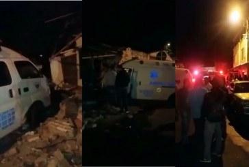 Ambulancia que había sido robada en Tuluá terminó estrellada, hubo cinco heridos