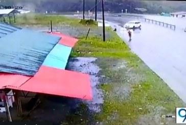 En impresionante video quedó grabado accidente de ocho miembros de Indervalle
