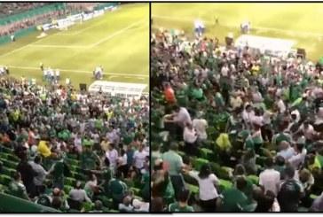 Trifulca entre hinchas durante partido entre Deportivo Cali y Junior dejó un herido