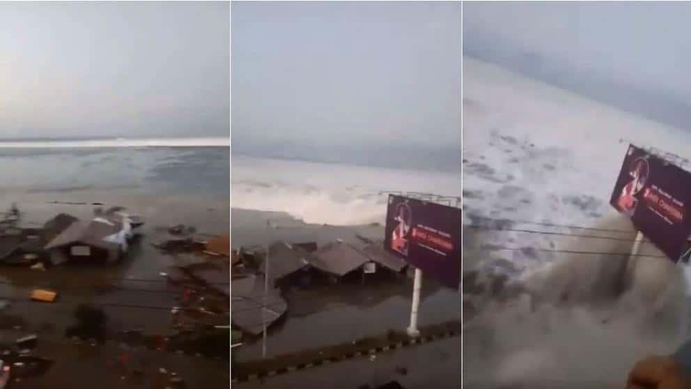 Video: poderoso tsunami golpea isla en Indonesia tras terremoto de 7,7 grados