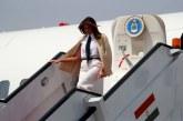Avión donde viajaba Melania Trump, tuvo que aterrizar de emergencia
