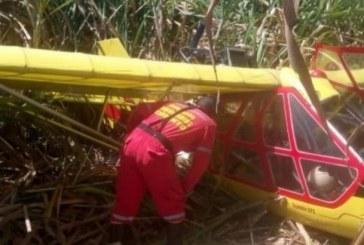 Avioneta se accidentó mientras realizaba labores de riego en Corinto, Cauca