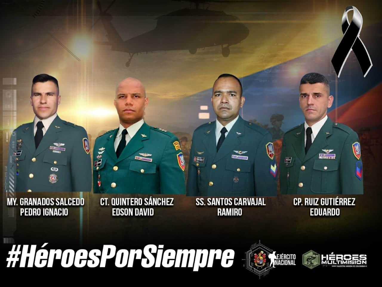 Cuerpos de militares muertos en accidente no han podido ser trasladados a Popayán