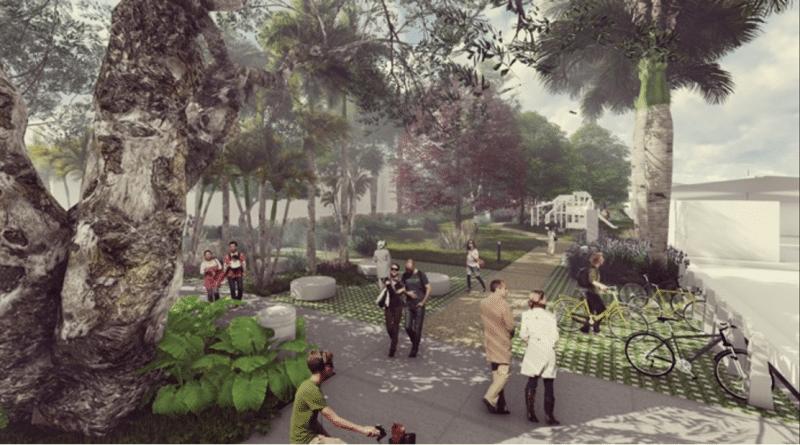 Diseños del Parque Lineal de la Calle 15 fueron conocidos por habitantes de Ciudad Jardín