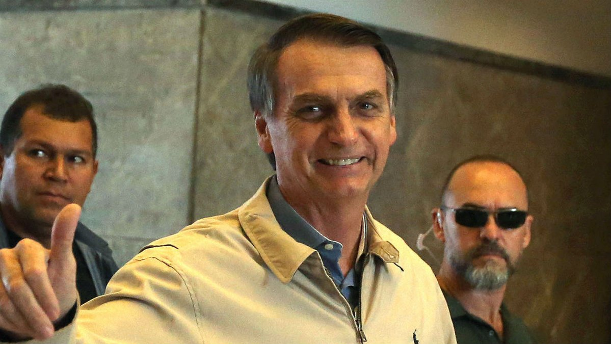 Con más del 55% de los votos, Jair Bolsonaro es el nuevo presidente de Brasil