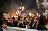 Con antorchas en mano, estudiantes de Cali se tomaron las calles por la educación pública