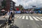 Avanza masiva movilización de docentes y estudiantes por las calles de Cali