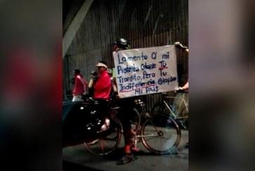 Estudiantes en bicicletas continuaron marcha en Cali y se tomaron Túnel Mundialista