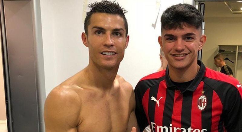 Foto de promesa del Milán con Cristiano Ronaldo mostró partes íntimas de jugador