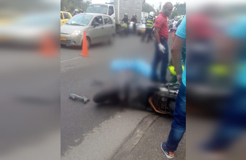Motociclista murió tras ser arrollado por camión en Autopista Simón Bolívar en Cali
