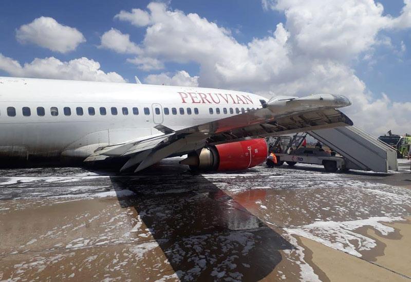 Avión derrapa en pleno despegue en aeropuerto de Bolivia sin dejar víctimas