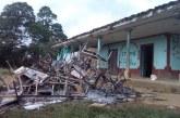 Incineran escuela de la comunidad indígena Misak en Caldono, Cauca